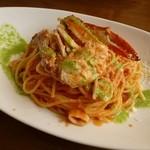 ピエタンザ - 料理写真:ワタリガニとシーフードのトマトクリームソース