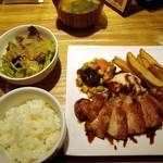 19936454 - トンテキ定食・テリヤキソース