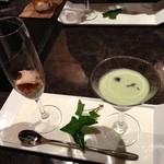 舞桜 - 鮑の前菜と枝豆のすり流し
