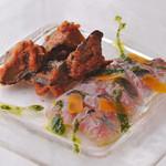 トルッキオ - 味のマリネと茄子のカポナータ、カラスミ添え