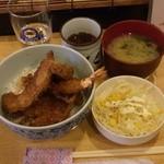 丸福 - 天丼¥500
