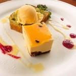 カフェレストラン ラヴィータ - 自家製ケーキとアイスの盛り合わせ