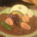 らららカレー - チキンカレー+素揚げ野菜トッピング