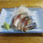 とも恵寿し - 生さば刺(840円)