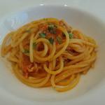 リストランテ ウミリア - 渡り蟹のトマトソース スパゲッティーニ をお好みの量で・・・(最少量の30gにしました。)