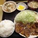 定食の店 ごんべ - 豚ロースみそ漬け焼き定食(ごはん小) 610円(第二回投稿分①)