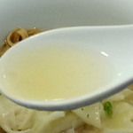 Tsurumen - 冷やし塩ワンタン麺 スープ