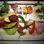 19953739 - ハンバーグランチ・前菜庭園サラダ
