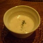 酒趣 柳浦堂 - 付き出しの冷製スープ