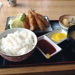 かどや食堂 - 料理写真:鯵フライ定食@850