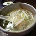 炭火焼牛タン音炭  - テールスープ