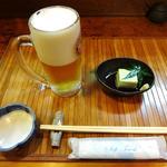19962780 - 枝豆豆腐とサービスのビール