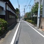 うな藤 - 西荻窪から歩いています。長い直線ですね~