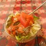 グラス - セットのサラダ