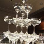 日比谷Bar - お祝いごとや歓送迎会には豪華シャンパンタワーをご用意♪