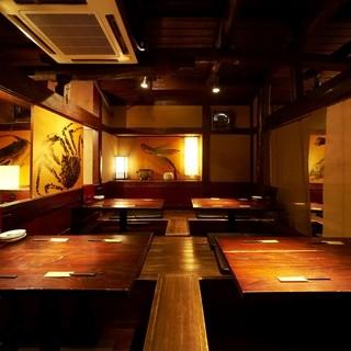 懐かしい造りの純和風の居酒屋です