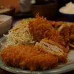 ごますりとんかつ とんき - 料理写真:ハーブ豚三昧定食(ミルフィーユ、メンチ、生姜焼き