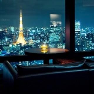 東京タワーを目の前に夜景を二人で独占するペアシート