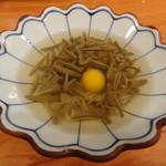 山海 - 蓴菜と鶉卵の酢の物