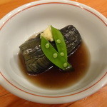 山海 - 茄子の煮揚げ出汁
