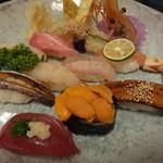 丸長寿司 - 親方おまかせ握り