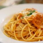 シェ ナーベ - 手羽元とパプリカのトマト煮込みソース