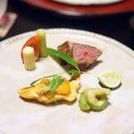雑司が谷 寛 - 福子雲丹焼き 国産黒毛和牛ステーキ