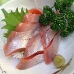 十和田家 - これが噂のひめますの刺身!旬の時期(4~11月)に是非食べたい一品。