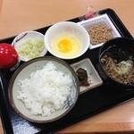 はるな食堂 - 納豆定食