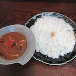 百屋 - 料理写真:野菜カレー(大盛・辛口)\1180