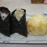 ぼんご - 左から、味噌にぎり と じゃこマヨネーズ 各230円                              2013.06