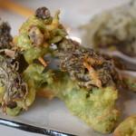 蔵 - 料理写真:アーサとモズクの天ぷら