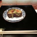 御料理 伊とう - <2013年7月>賀茂茄子の田楽。肉厚の大きなお茄子でした。