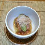 19989929 - 7月の先附 焼茄子とアボガドの旨味出汁ジュレ