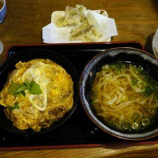 麺や ほり野 - 料理写真:カツ丼とかけうどんのセット