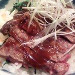 海南亭グリル - ステーキ丼(アップ)(2013.7)