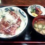 海南亭グリル - ステーキ丼ランチ(2013.7)