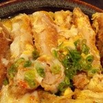 19992175 - 『かつとじ丼 W卵』のカツ断層~♪(^o^)丿