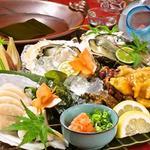 瑠璃の間 - 牡蠣とほや、浜の香りの岩塩しゃぶ!夏の贅沢要予約にてクーポンあります!