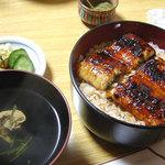 うなぎ料理 鹿六 - 鹿六の上鰻丼と肝吸(和歌山県新宮市)