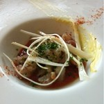 20002302 - 冷前菜 鮮魚とサザエのタルタル 夏野菜のガスパチョ仕立て