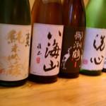 すしなが田 - たくさんの種類のお酒を御用意しています。