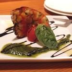 スミヴィノ - Jul, 2013 夏野菜のテリーヌ バジルソースとバルサミコ2色のソース 830円