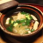 雑司が谷 寛 - 煮物 鼈丸子鍋 (早松 湯葉 冬瓜 九条ねぎ)