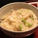 雑司が谷 寛 - 食事 (かます枝豆茗荷御飯)