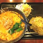 上海亭 - 坦々麺チャーハンセット
