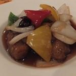 中国料理 桃翠 - あぐ~豚の黒酢の酢豚