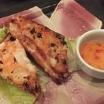 中国料理 桃翠 - 海老すり身のトースト揚げ
