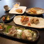 寿司つるや - 料理写真:新メニュー登場です!創作寿司レディスランチコース\2480