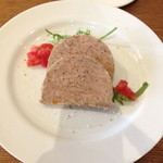 ラキュイエール - 2013年7月12日のランチの前菜「豚肉のリエット」